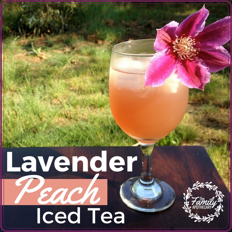 This subtly sweet summer lavender peach tea is so good! Honey-sweetend, it's a subtle blend of fruity peach, coupled with a hint of minty-floral lavender... it's sure to be a crowd-pleaser at your next summer garden party or Sunday evening soirée! #lavender #peach #teainfusion #icedtea #summertime #funtime ~ Visit TheFamilyApothecary.com for more healthy living tips!