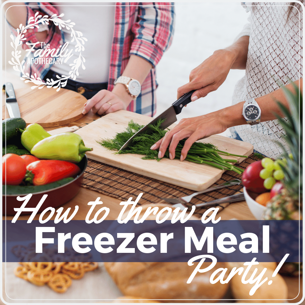 Throwing a freezer meal party makes the task of making freezer meals even more fun and exciting! Save money on real food while hanging with friends! #freezermealprep #freezermeals #healthyfreezermeals #friendsandfamily ~ For more healthy living tips visit TheFamilyApothecary.com