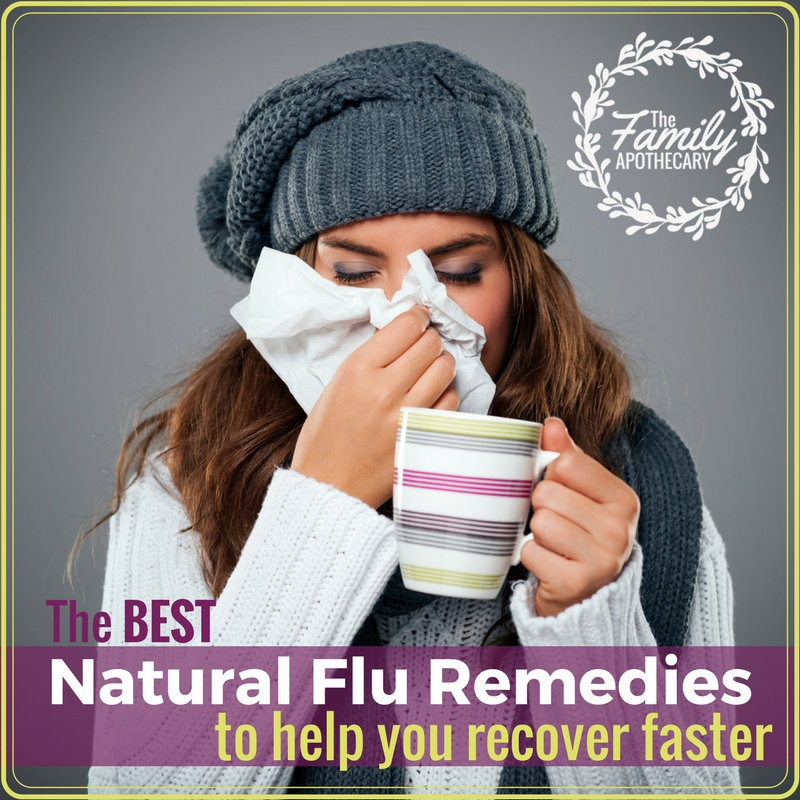 Getting the flu is the worst! Hopefully you can find some relief in one of the best natural flu remedies I've listed below, to help you recover faster. #naturalfluremedies #beattheflu #coldandflu #stayhealthy For more healthy living tips, visit TheFamilyApothecary.com