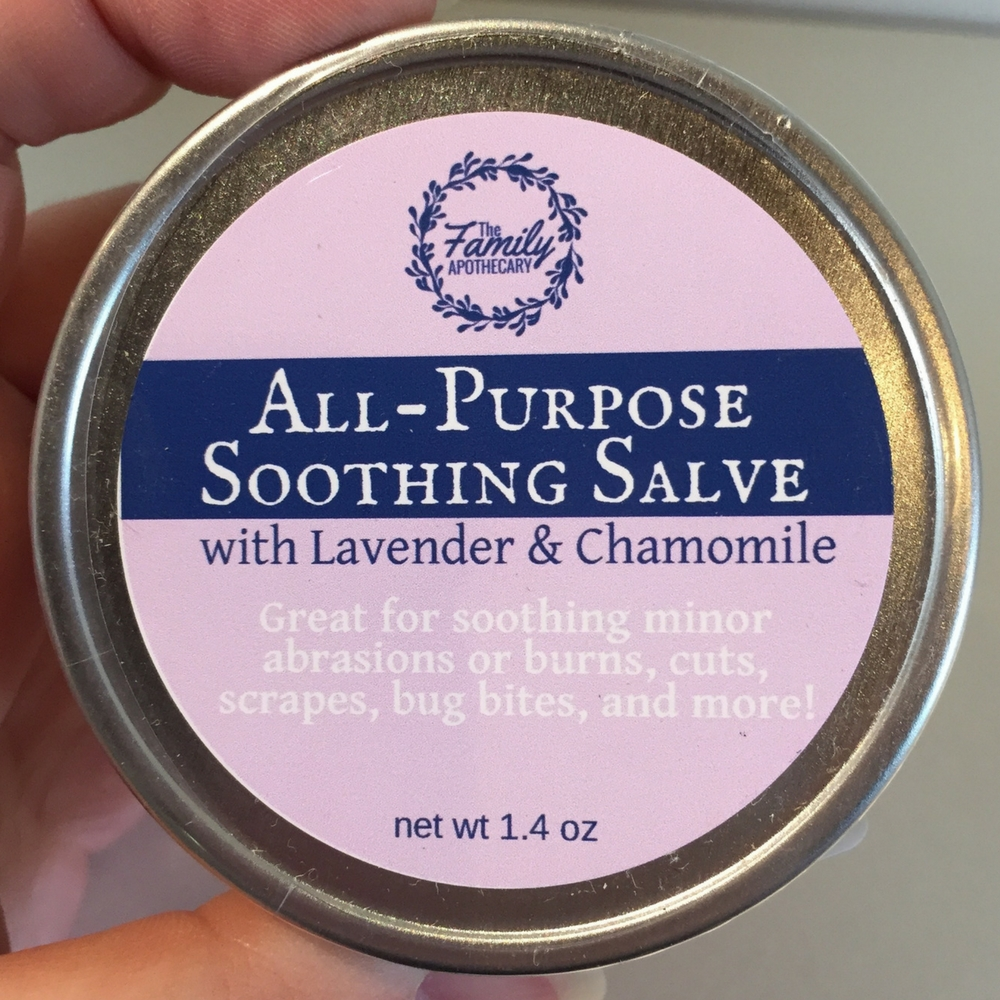 This All Purpose Salve is perfect for soothing minor cuts, abrasions, & bug bites by helping to support your skin's natural healing process. #thefamilyapothecary #healingsalve #lavender #naturalremedies ... Visit TheFamilyApothecary.com for more great natural remedies to support your healthy lifestyle!