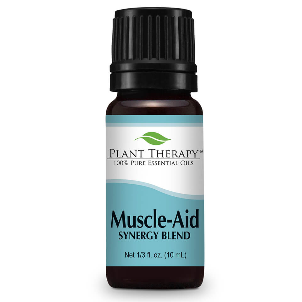 Sore, achy muscles don't stand a chance with Plant Therapy's Muscle Aid Synergy Blend, that can help soothe those aches away to help you get back to your workouts once again. #gymbesties #muscles #warmup #cooldown #relief ... Visit TheFamilyApothecary.com for more great natural remedies to support your healthy lifestyle!